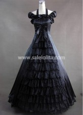 Elegant and Graceful Black Gothic Style Gown