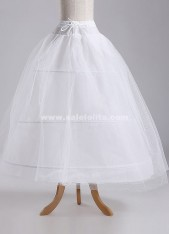 Wedding Bridal Gown Dress Petticoat,Three Hoops And Two Layer Gauze Underskirt Crinoline For Wedding
