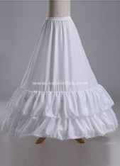 Wedding Bridal Gown Dress Petticoat,Three Hoops And Two Layer Gauze Underskirt Crinoline Wedding Accessories