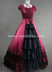 The princess temperament elegant red Gothic Vitoria long dress