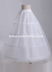 High Quality Bridal Bride Petticoats Four Hoop Rims A Layer Of Hard Gauze With Inner Lining Panniers