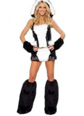 Womens Sexy Panda Animal Costume,Polar Bear Halloween Costumes