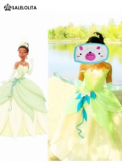 The Princess and the Frog Cosplay Princess Tiana Dress Adult Princess Tiana Costume Halloween Costume