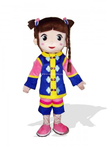 Cute Girl Mascot Costume for Adult