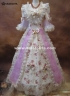 Custom Print Bow Victorian Medieval Gowns Civil War Southern Belle Ball Gown Marie Antoinette Dresses