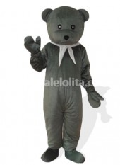 Gray Plush Adult Bear Mascot Costume