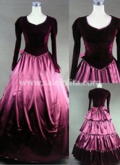 Superb Purple Gothic Victorian Dress