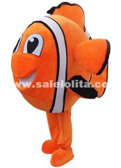 Clown Fish Mascot Adult Costume Cartoon Character Blue And Orange Fish Anime Cosplay Carnival Costumes