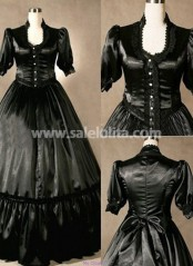 Exquisite Pure Black Victorian Lolita Dress