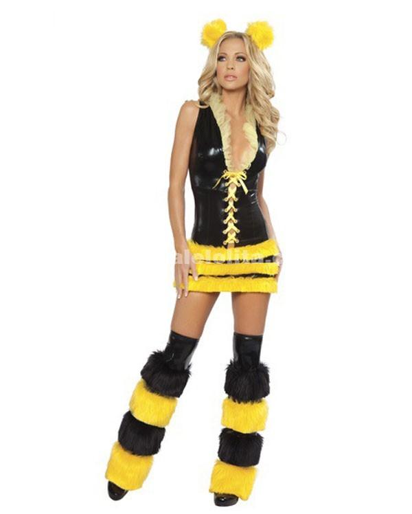 Black And Yellow Small Bees Animal CostumesFashion Halloween Costume Loading