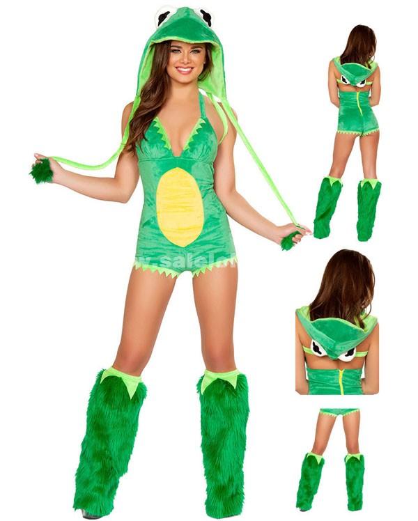 christmas frogs animal costumesgreen halloween frogs animal costumes - Green Halloween Dress