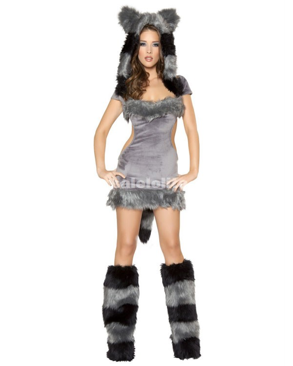 Grey Wolf Cosplay Animal Party Costume Halloween Grey Wolf Animal Costumes. Loading  sc 1 st  Salelolita & Grey Wolf Cosplay Animal Party Costume Halloween Grey Wolf Animal ...