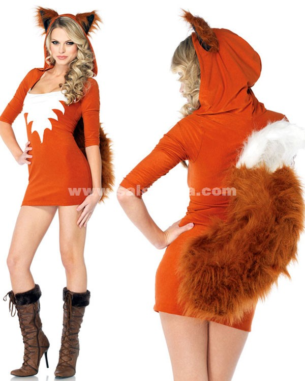 7515546b65a3 Orange Fox Cosplay Halloween Animal Costumes - SaleLoLita.com