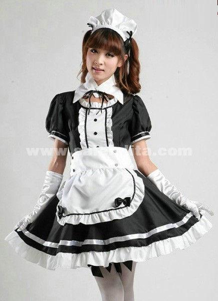High Quality Sweety Top Sale Cotton Black And Red Japanese Maid Costume Princess Halloween Cosplay. Loading  sc 1 st  Salelolita.com & 2016 High Quality Sweety Top Sale Cotton Black And Red Japanese Maid ...
