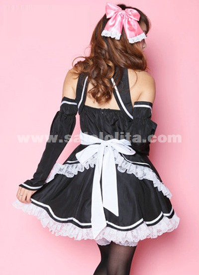 And Princess Black Patchwork Sleeves Japanese Anime Cosplay ...
