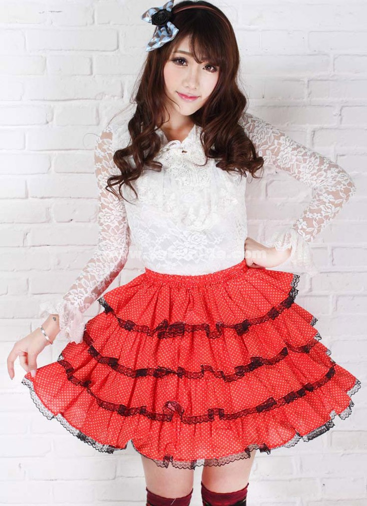 Red Bubble Skirt