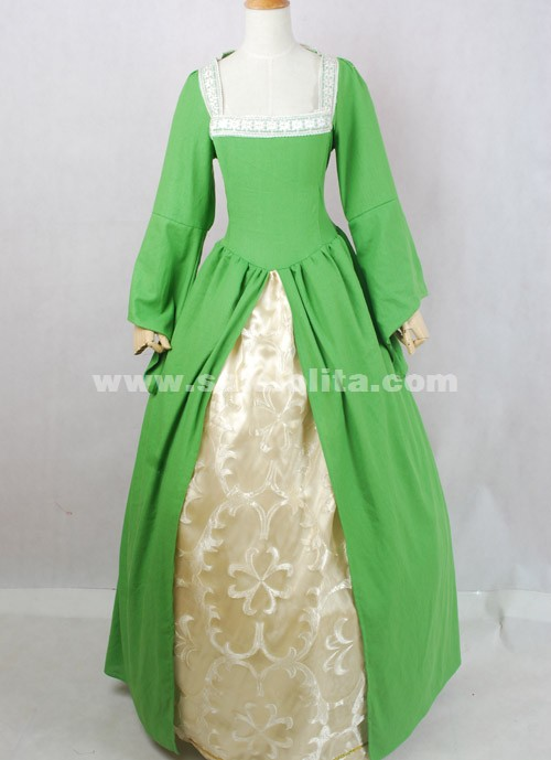 2016 Brand New Elegant Light Green Long Sleeves Victorian Ball Gowns ...