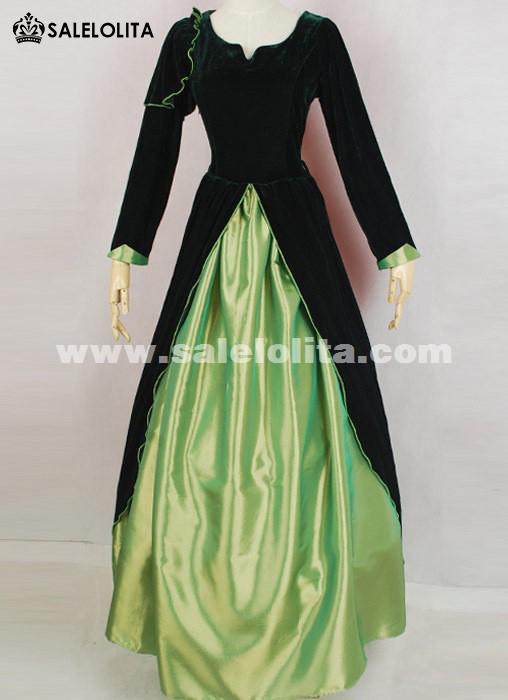 2016 Elegant Vintage Black And Green Medieval Renaissance Gothic ...