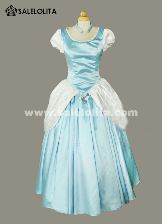 2016 Light Blue Cinderella Costume Short Sleeve Princess Victorian Dress. Loading : victorian ladies costumes  - Germanpascual.Com