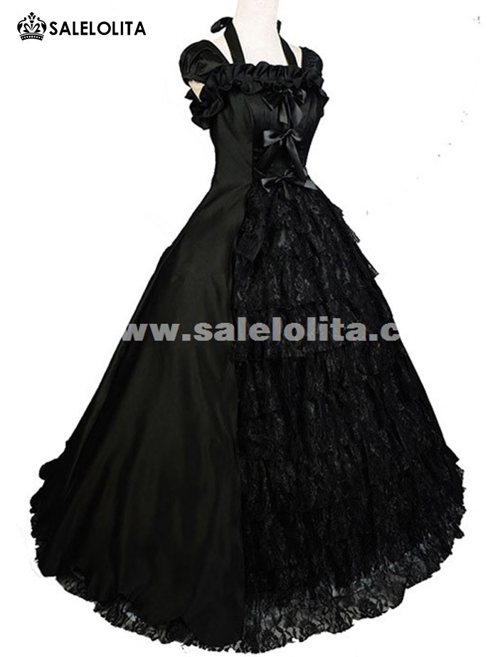 2018 Brand New Black Short Sleeve Medieval Victorian Dress Halloween Victorian Ball Gown For Women