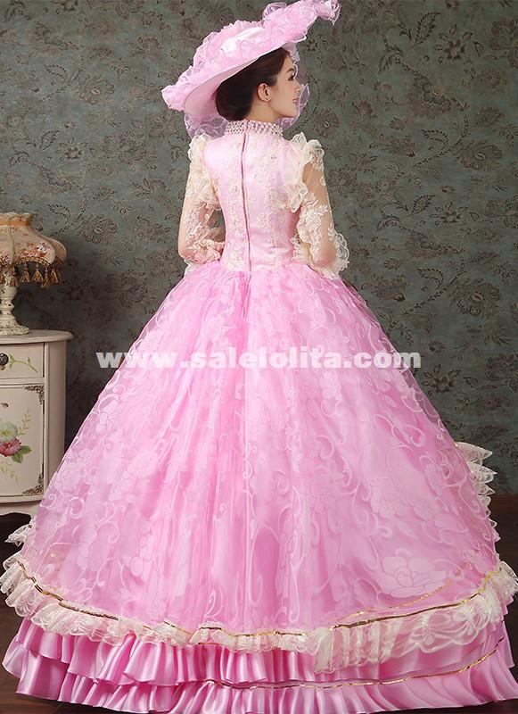 2016 Royal Pink Medival Renaissance Marie Antoinette Ball