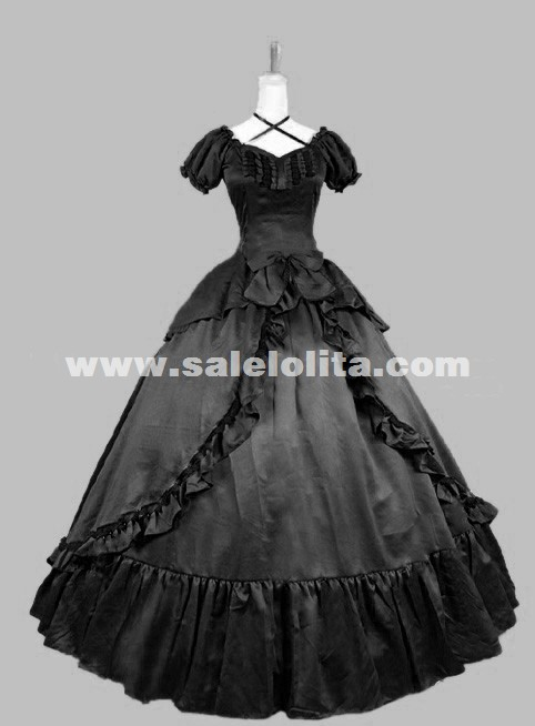 High Quality Victorian Dress Blue Period Old West Ball Gown Women Vampire Theatre Costume