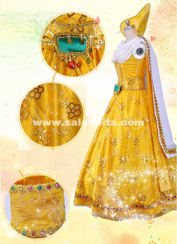 Customized Women Grimm Fairy Tales Susannah Princess Cosplay Dress Costumes For Adult