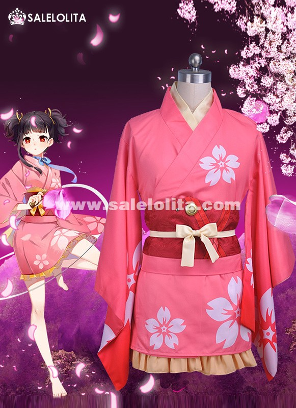 Anime Kabaneri of the Iron Fortress cosplay Mumei Kimono Costumes Koutetsujou no Kabaneri Uniforms bathrobe Kimono Outifit
