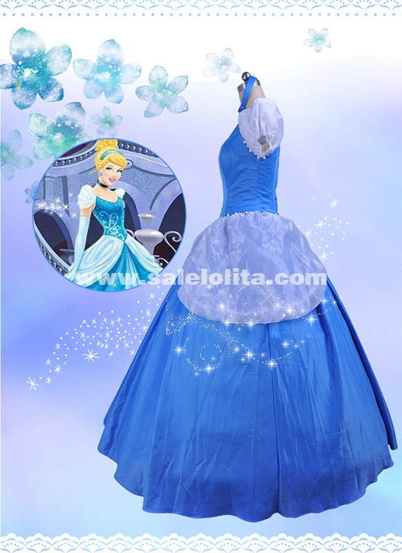 Hot Sale Green Fairy Tales Cinderella Dress Adult Princess Cinderella Cosplay Dress Halloween Costume For Women