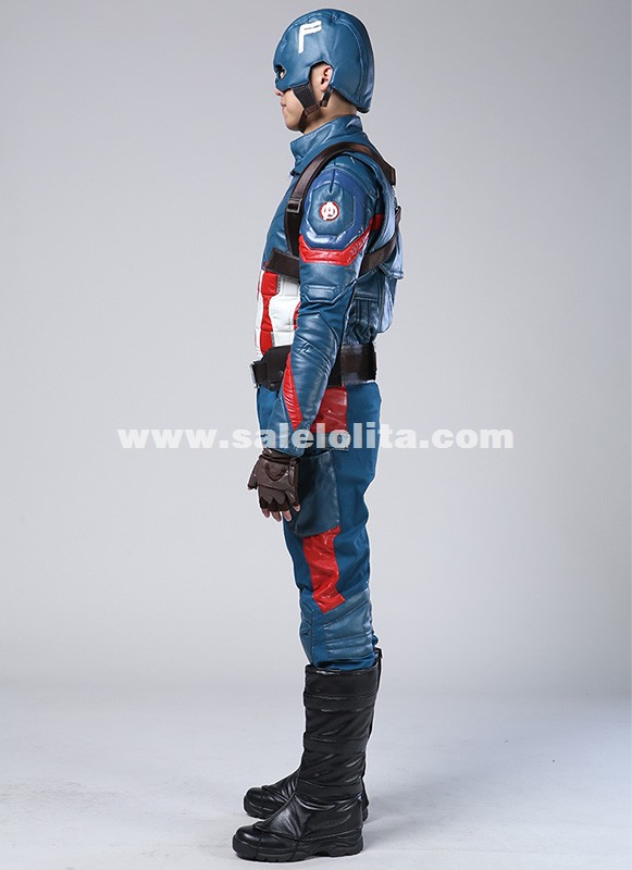 Movie Captain America 3 Civil War Age of Ultron Captain America Cosplay Costume Steve Rogers Outfits Superhero Costume
