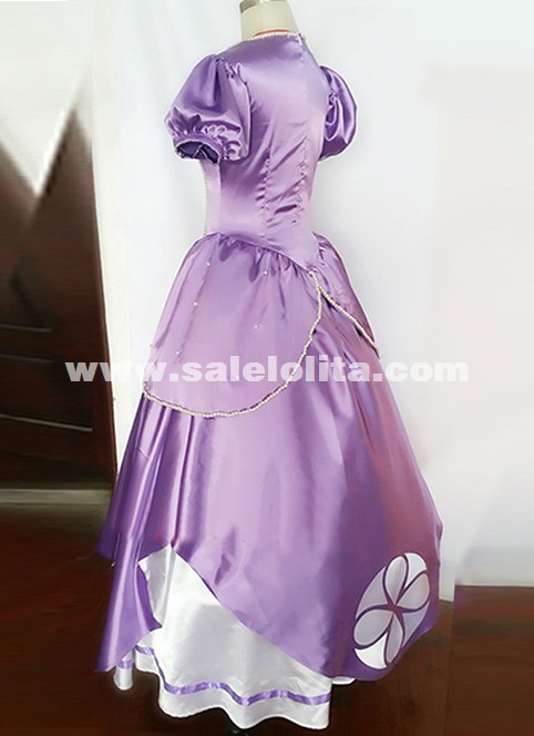 New hand-beaded movie Sofia the first cosplay Sophia Dress Adult cosplay Sophia Princess Dress Halloween Costume