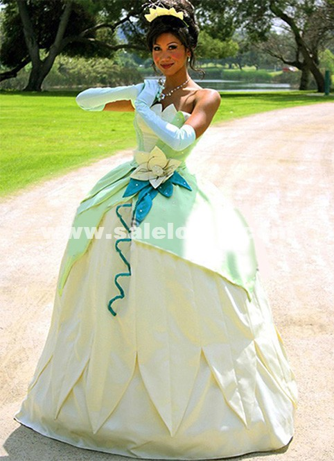 Princess and the Frog Cosplay Princess Tiana Dress Adult Princess