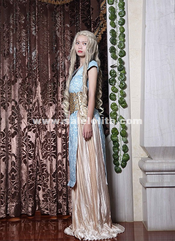 Women Game of Thrones A Song of Ice and Fire Daenerys Targaryen Mother of Dragons Cosplay Dress For Adult