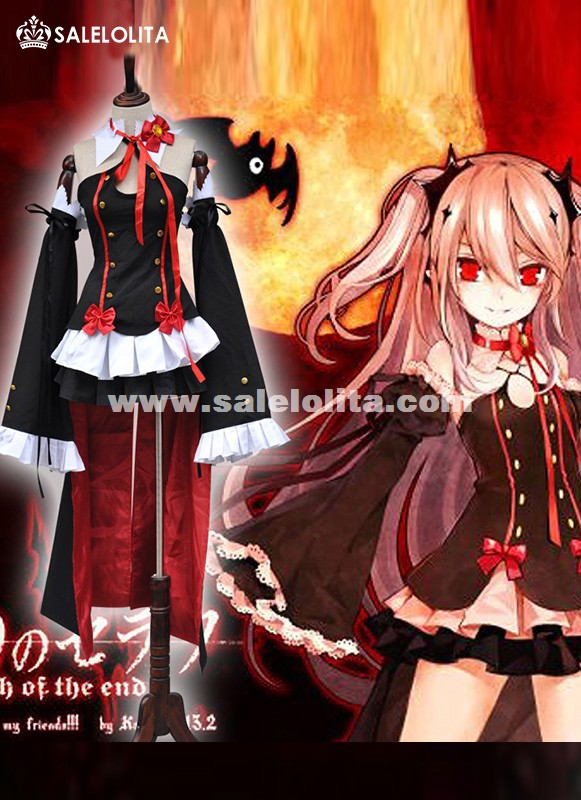 Seraph of the end Cosplay costume women Krul Tepes Cosplay Dress Queen of the Damned cosplay costumes