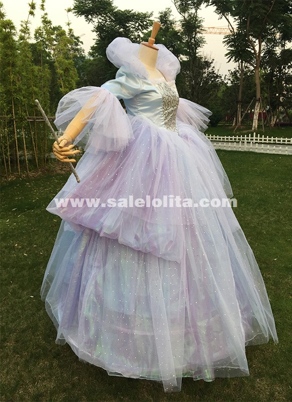 Cinderella Princess Fairy Godmother Halloween Cos Costume Women Fancy Dress US
