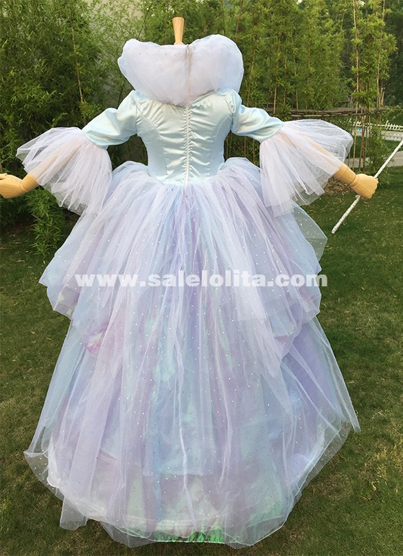Adult Women Princess Cinderella Costume Long Fairy Godmother Cosplay Dresses Halloween Costume & Adult Women Princess Cinderella Costume Long Fairy Godmother Cosplay ...
