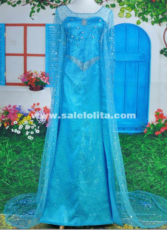 adult Princess Elsa Dress cosplay halloween costumes women Snow Queen Cosplay Dress