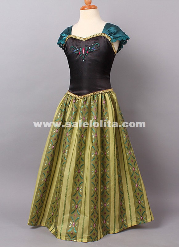Kids Anna Coronation Dresses Girl Anna Princess Dress Kids Halloween Dresses