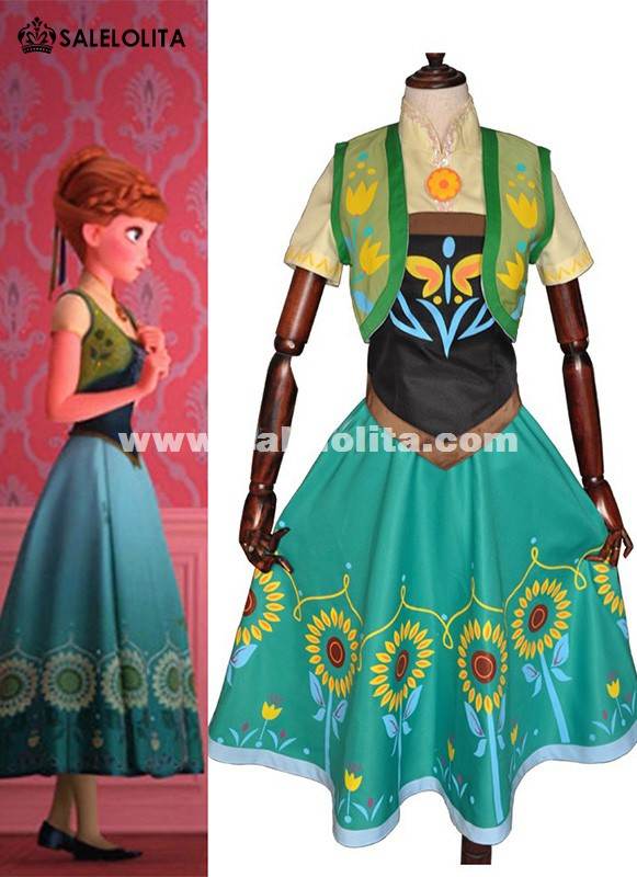 Customized Anna Birthday Party Dress Adult Princess Anna Coronation Dress For Women