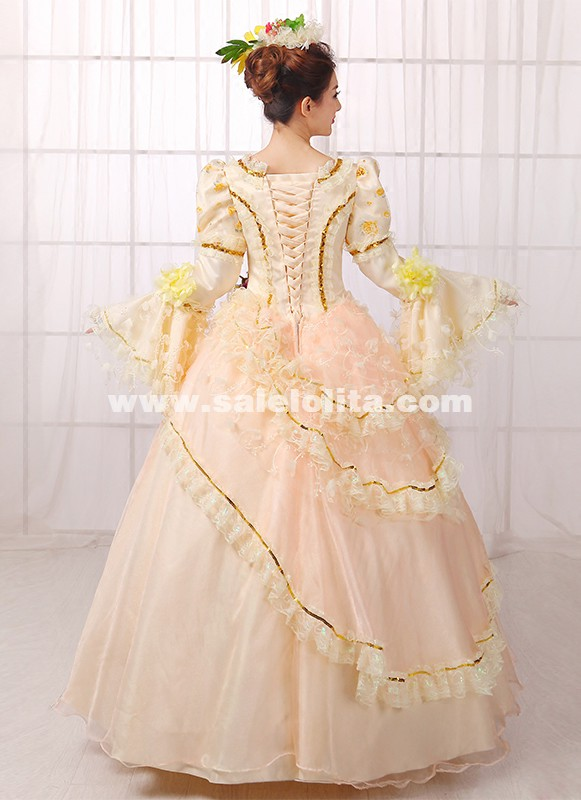 Hot Sale Renaissance Medieval Marie Antoinette Rococo Ball Gown Dress Costume