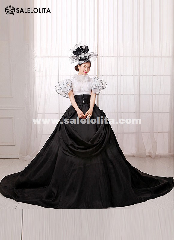 Europe Black And White Punk Southern Belle Rococo Marie
