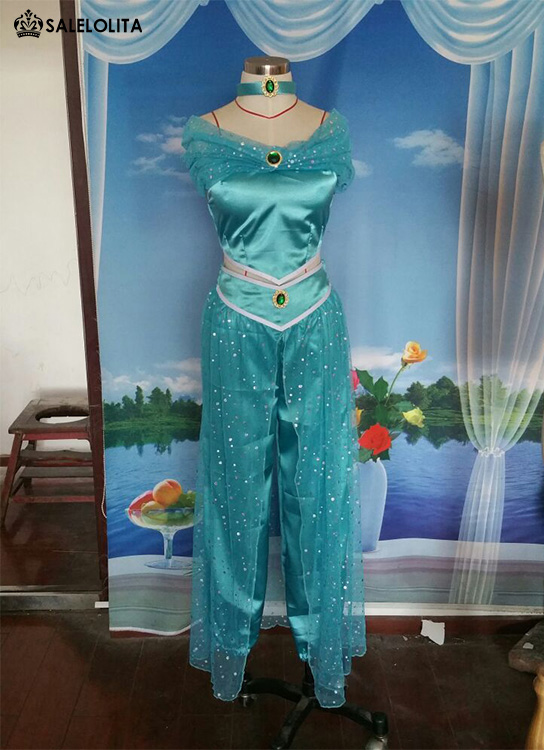 Adult Aladdin Jasmine Princess Cosplay Costumes For Women