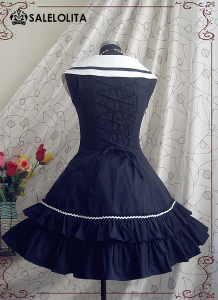 Hot Sale Bow Cotton Two-Piece Casual Sweet Lolita Dress Five Colors