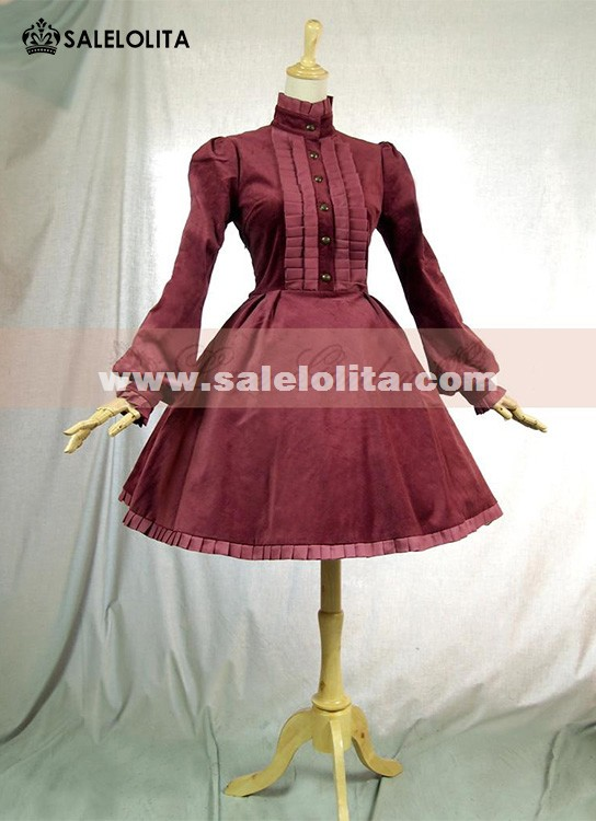 Black And Red Long Sleeve Lolita Dresses