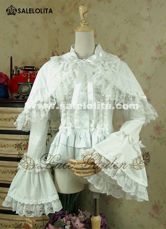 White Cotton Blouse Ruffles 15