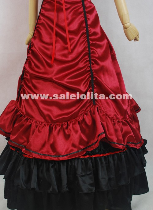 Hot Sale Red Satin Victorian Lolita Dresses