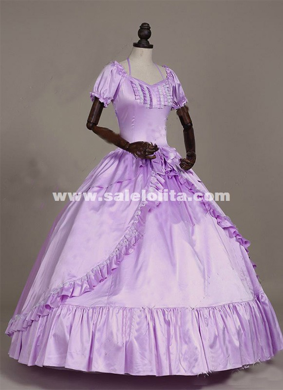 Brand New Violet Southern Belle Masquerade Period Ball Gown Princess Cosplay Victorian Dresses Halloween Costumes