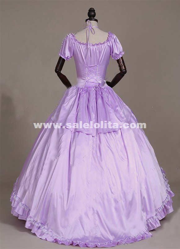 Brand New Violet Southern Belle Masquerade Period Ball Gown Princess ...