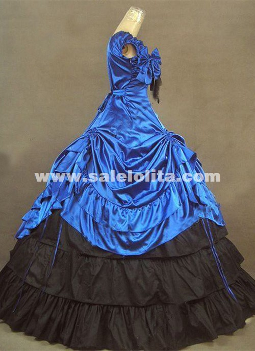 Brand New Royal Blue Southern Belle Victorian Ball Gowns Lolita Princess Prom Dress Reenactment Theatrical Costumes