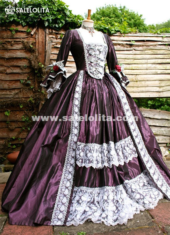 1ad103c361b4 Brand New Purple Marie Antoinette Victorian Ball Gowns Renaissance Wench  Gothic Princess Dressees Ball Gown Vampire